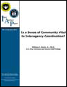 IAP 3 (Jan 2011) Is a Sense of Community Vital to Interagency Coordination?
