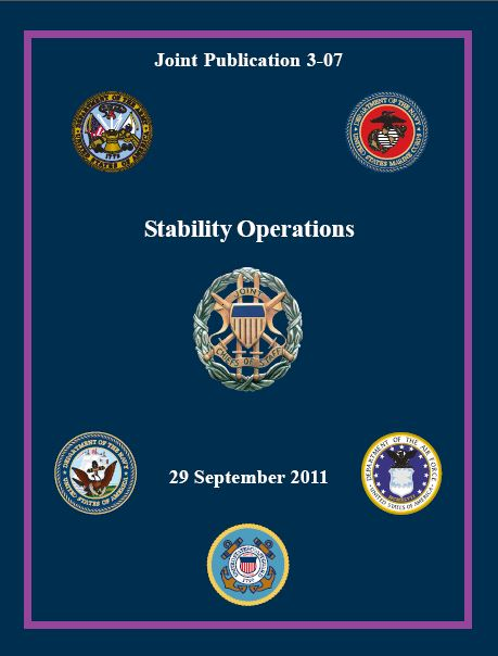 Joint Publication 3-07 sets doctrine for interorganizational coordination during stability operations
