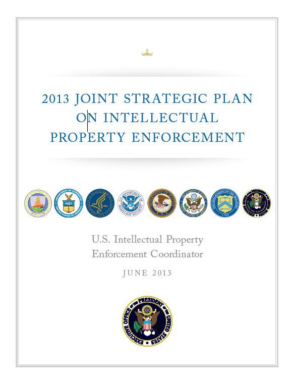 Strategic plan addresses intellectual property enforcement