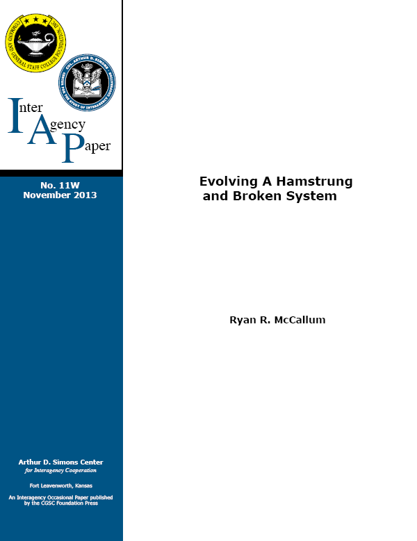 IAP 11W (November 2013) Evolving a Hamstrung and Broken System
