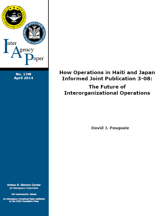 IAP 13W (April 2014) The Future of Interorganizational Operations