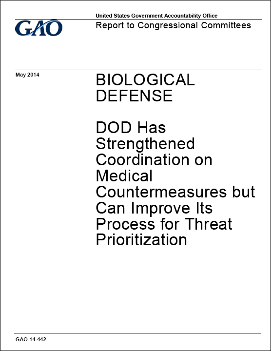 Report praises current measures in U.S. biological defense