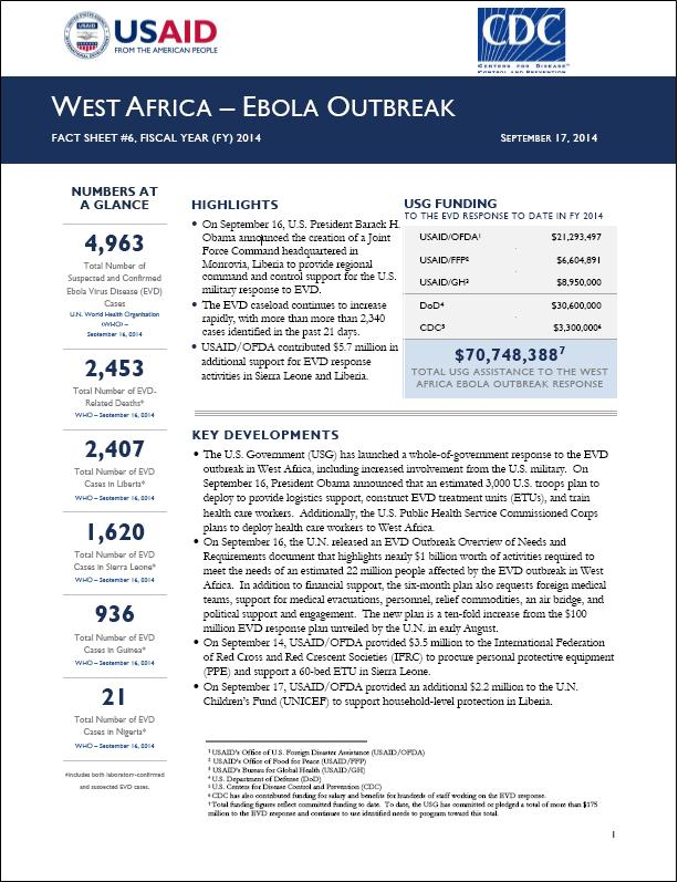 USAID outlines Ebola response