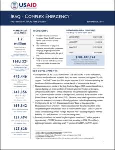 iraq fact sheet 7 - sept 2014