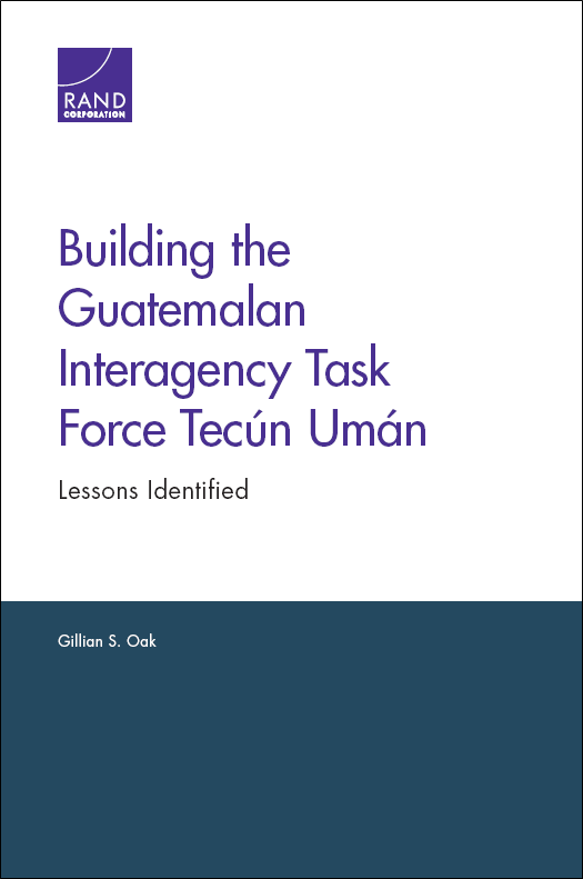 Report outlines lessons learned establishing interagency task force