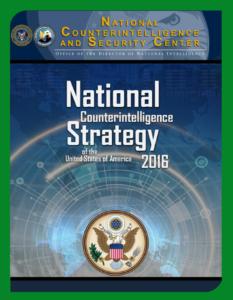 National Counterintelligence Strategy 2016