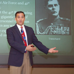 Lecture addresses men and flying machines of WWI
