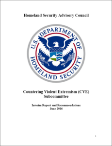 CVE subcommittee report - June 2016