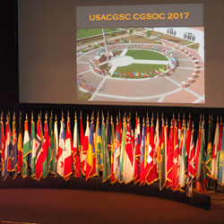 CGSC 2017 academic year kicks off with International Flag Ceremony