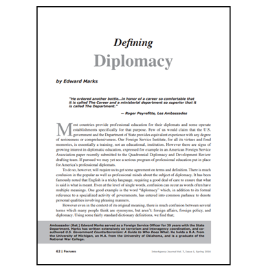 Featured Article: Defining Diplomacy