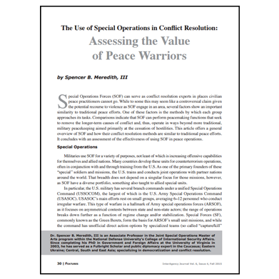 Featured Article: Assessing the Value of Peace Warriors