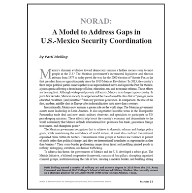 Featured Article: NORAD: A Model to Address Gaps in U.S.-Mexico Security Coordination