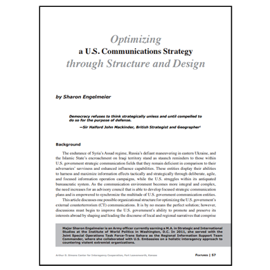 Featured Article: Optimizing a U.S. Communications Strategy…