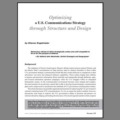 Featured Article: Optimizing a U.S. Communications Strategy…