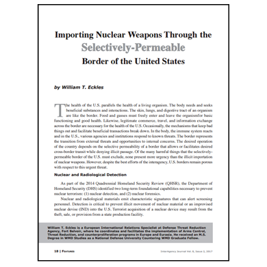 Featured Article: Importing Nuclear Weapons…