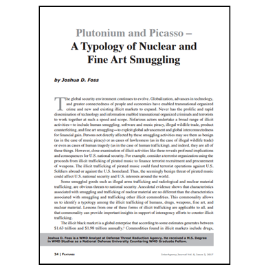 Featured Article: Plutonium and Picasso – A Typology of Nuclear and Fine Art Smuggling