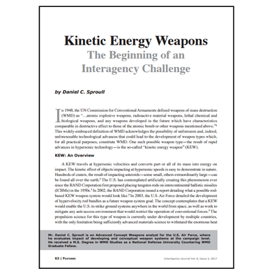 Featured Article: Kinetic Energy Weapons…