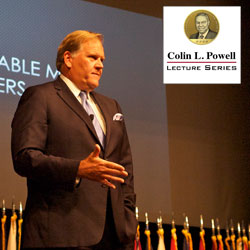 Former U.S. Rep. Mike Rogers delivers Powell Lecture