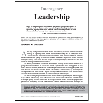 Featured Article: Interagency Leadership