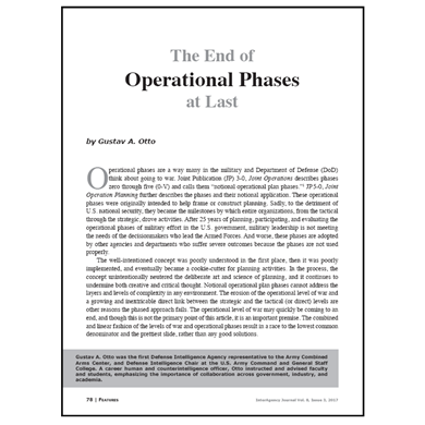Featured Article: The End of Operational Phases at Last