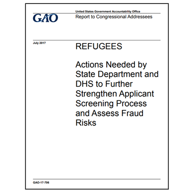 State, DHS encouraged to strengthen refugee screenings