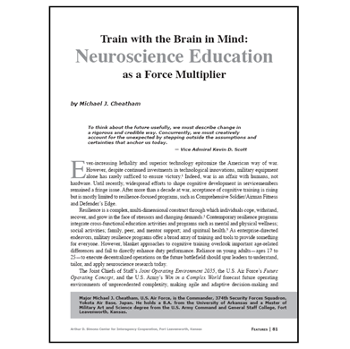 Featured Article: Train with the Brain in Mind…
