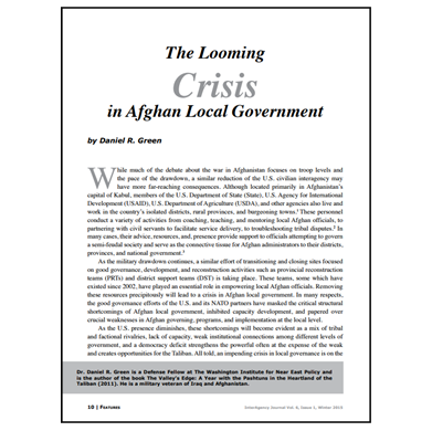 Featured Article: The Looming Crisis in Afghan Local Government