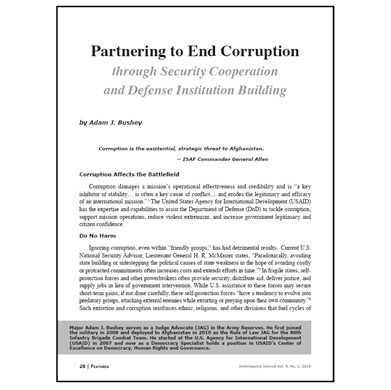 Featured Article: Partnering to End Corruption…
