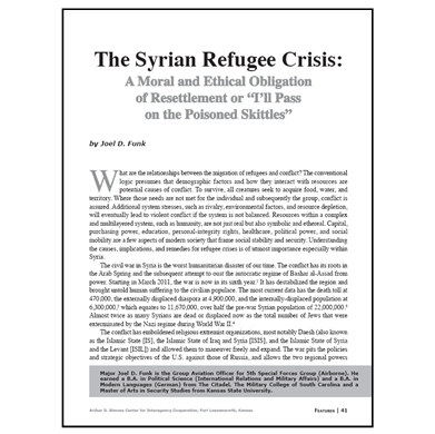 Featured Article: The Syrian Refugee Crisis…
