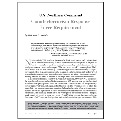 Featured Article: Counterterrorism Response Force Requirement
