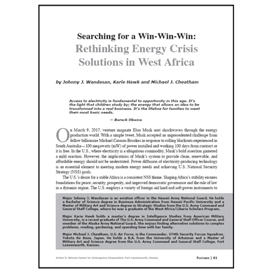 Featured Article: Rethinking Energy Crisis Solutions in West Africa