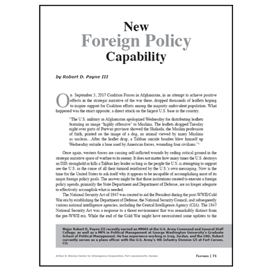 Featured Article: New Foreign Policy Capability