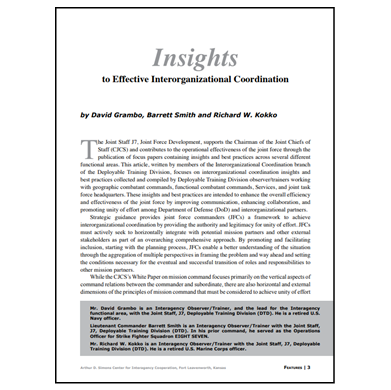 Featured Article: Insights to Effective Interorganizational Coordination