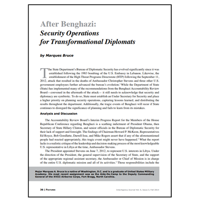 Featured Article: Security Operations for Transformational Diplomats