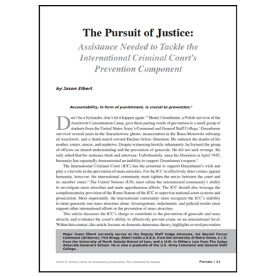 Featured Article: The Pursuit of Justice