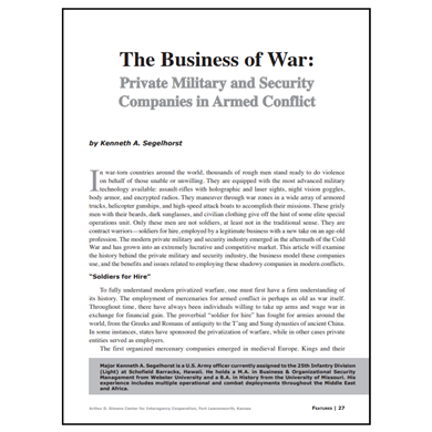 Featured Article: The Business of War