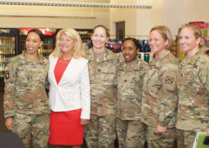 Every CGSC student wanted a photo with Gen. (Ret.) Dunwoody after she autographed their books.