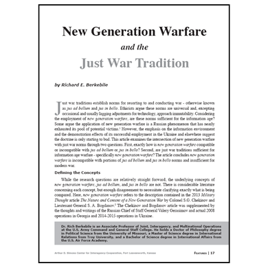 Featured Article: New Generation Warfare…