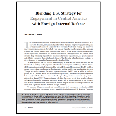 Featured Article: Blending U.S. Strategy for Engagement in Central America…