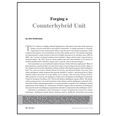 Featured Article: Forging a Counterhybrid Unit