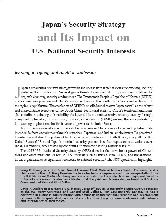 Featured Article: Japan's Security Strategy… | Arthur D