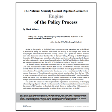 Featured Article: The National Security Council Deputies Committee…