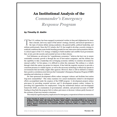 Featured Article: The Commander's Emergency Response Program