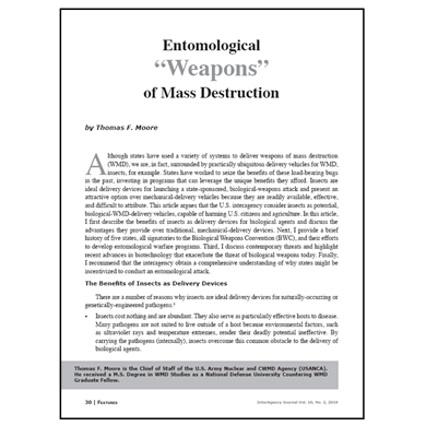 "Featured Article: Entomological ""Weapons"" of Mass Destruction"