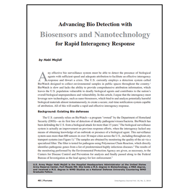 Featured Article: Advancing Bio Detection with Biosensors and Nanotechnology…