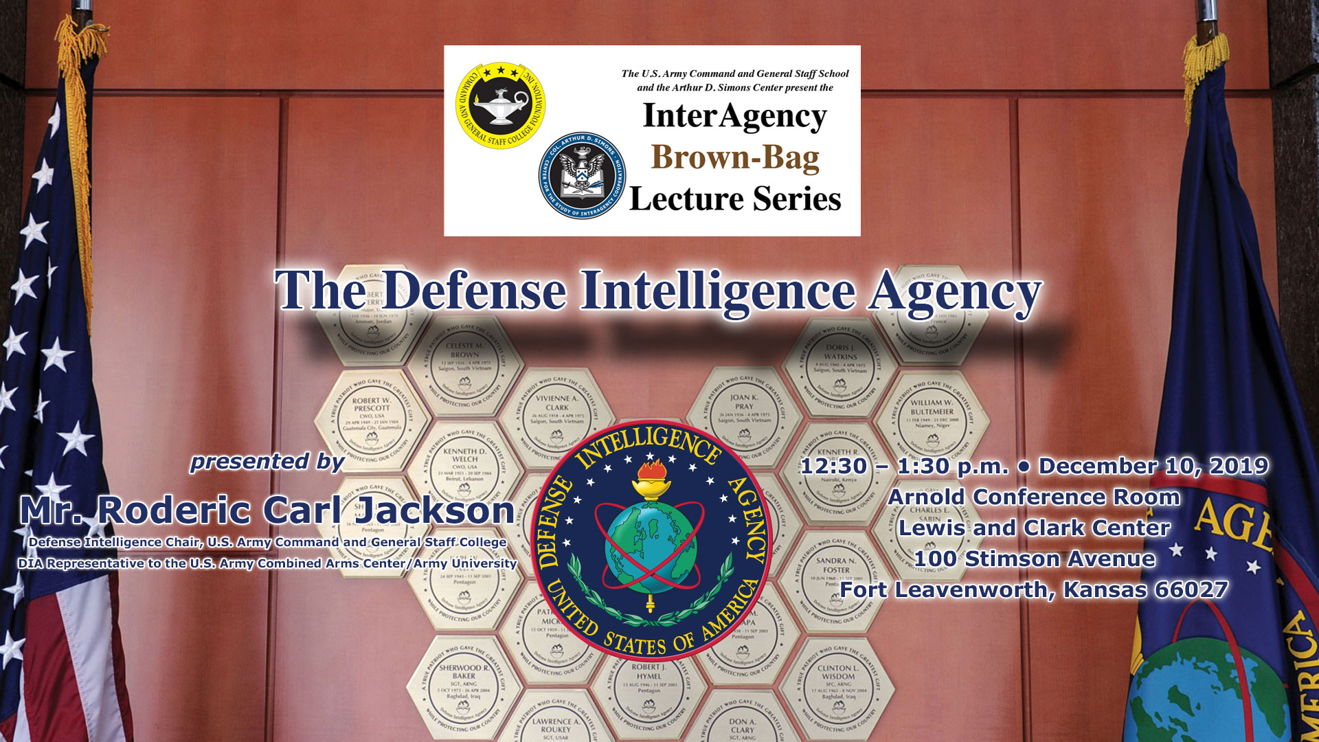 InterAgency Brownbag Lecture info image with speaker/dates/location
