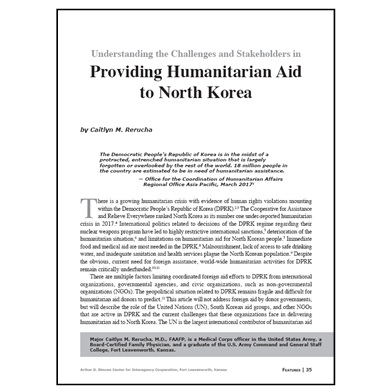Featured Article: Providing Humanitarian Aid to North Korea