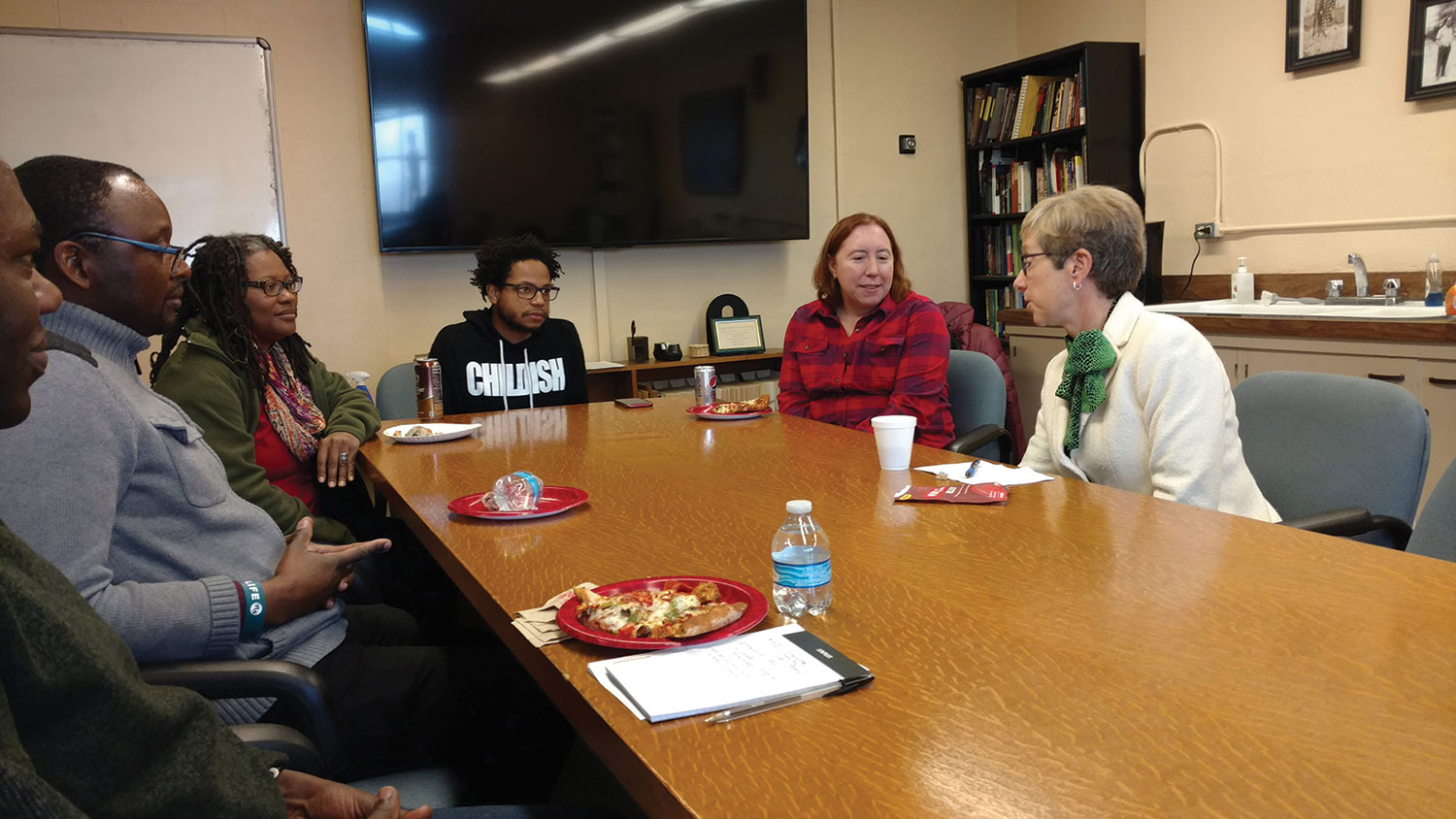 Ambassador Canavan meets with faculty of the African and African American Studies Department during her visit to the University of Kansas Dec. 5, 2019.