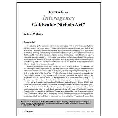 Featured Article: Is it Time for an Interagency Goldwater-Nichols Act?