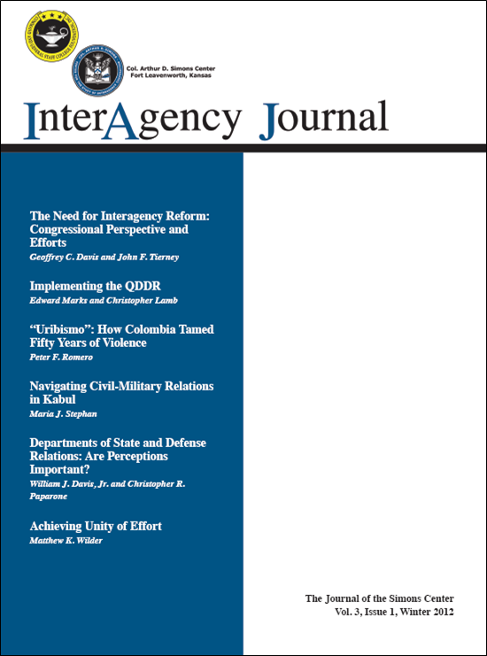 InterAgency Journal 3-1 (Winter 2012)
